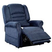 Mega Motion Serene Power Recliner with Lift Chair - Infinite Position - Navy