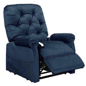 Mega Motion Classica 3 Position Power Lift Recliner Chair - Navy