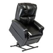 Mega Motion Main Street 3 Position Power Lift Recliner Chair - Lexi Black Vinyl