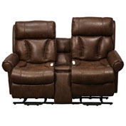 Mega Motion Companion Power Lift and Recliner Loveseat with Center Console - Buff