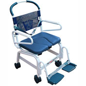 """Mor-Medical Euro Shower Commode Chair, 400 lbs. Capacity, 22""""W Seat"""