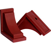 "Mayne® 4828-R Nantucket Decorative Corbels, Red, Polyethylene, 8"" x 7"" x 4"", 2/Pack"