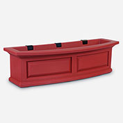 "Mayne® 4830-R Nantucket Window Box, Red, Polyethylene, 2.5 Gallon Capacity, 36"" x 10"" x 11.5"""