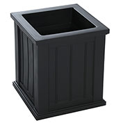 "Mayne® Cape Cod Patio Planter, 16""L x 16""W x 18""H, Square, Black"