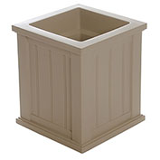 "Mayne® Cape Cod Patio Planter, 16""L x 16""W x 18""H, Square, Clay"