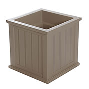 "Mayne® Cape Cod Patio Planter, 20""L x 20""W x 20""H, Square, Clay"
