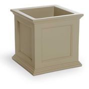 "Mayne® Fairfield Patio Planter, 20""L x 20""W x 20""H, Square, Clay"