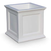 "Mayne® Fairfield Patio Planter, 20""L x 20""W x 20""H, Square, White"
