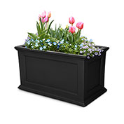 "Mayne® Fairfield Patio Planter, 36""L x 20""W x 20""H, Rectangular, Black"
