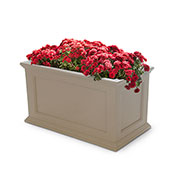 "Mayne® Fairfield Patio Planter, 36""L x 20""W x 20""H, Rectangular, Clay"