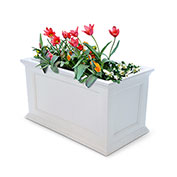 "Mayne® Fairfield Patio Planter, 36""L x 20""W x 20""H, Rectangular, White"