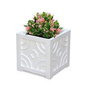 "Mayne® Savannah Patio Planter, 16""L x 16""W x 16""H, Square, White"