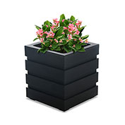 "Mayne® Freeport Patio Planter, 18""L x 18""W x 20""H, Square, Black"