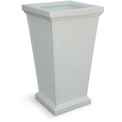 "Mayne® Wellington Tall Planter, 16""L x 16""W x 28""H, Square, White"