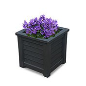 "Mayne® Lakeland Planter, 16""L x 16""W x 16""H, Square, Black"