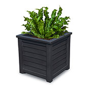 "Mayne® Lakeland Planter, 20""L x 20""W x 20""H, Square, Black"