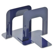 "MMF Industries Economy Bookends 5-3/16"" High Blue 2 Pack"