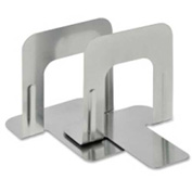 """MMF Industries Economy Bookends 5-3/16"""" High Silver 2 Pack"""
