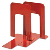 "MMF Industries Deluxe Bookends 8-3/16"" High Red 2 Pack"