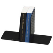 "MMF Industries Large Dimpled Bookends 8"" High Black 2 Pack"
