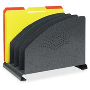 MMF Industries Vertical Organizer with 4 Compartments Granite