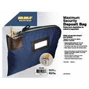 "MMF 7-Pin Security Locking Bag with 2 Keys 233110808, Nylon, 8-1/2"" x 11"", Navy"