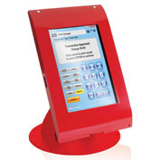"MMF Tablet POS Kiosk Security Enclosure with Stand for 7-8"" Tablets MMFTE081107 - Red"