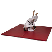 "Mancino Premium Martial Arts Folding Mat 6' x 12' x 2"" Thick, Red - GI1006x12Red"