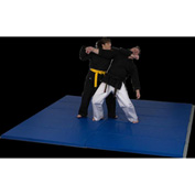 "Mancino Deluxe Martial Arts Folding Mat 4' x 8' x 2"" Thick, Royal - GI2004x8Roy"