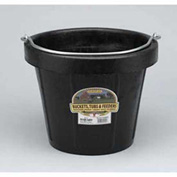 Little Giant All-Purpose Pail Df12, Duraflex Rubber, 12 Qt., Black - Pkg Qty 12