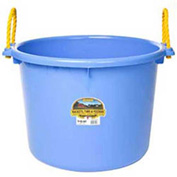 Little Giant PSB70BERRYBLUE Muck Bucket w/Rope Handles Poly & Poly Rope 70 Qt., Berry Blue-Pkg Qty 6 - Pkg Qty 6