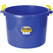 Little Giant PSB70BLUE Bushel Muck Bucket W/Rope Handles Poly & Poly Rope, 70 Qt., Blue-Pkg Qty 6 - Pkg Qty 6