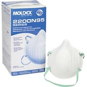 Moldex 2207N95 2200 Series N95 Particulate Respirators, Low Profile, 20/Box