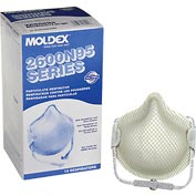 Moldex 2600N95 2600 Series N95 Particulate Respirators with HandyStrap®, Medium/Large, 15/Box
