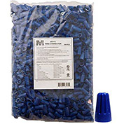 Morris Products 23172, Screw-On Wire Connectors P2 Blue Bagged 1000 Bulk Pack, 1000 Pk