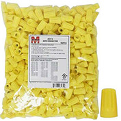 Morris Products 23174, Screw-On Wire Connectors P4 Yellow Bagged 500 Bulk Pack, 500 Pk