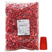 Morris Products 23176, Screw-On Wire Connectors P6 Red Bagged 500 Bulk Pack, 500 Pk