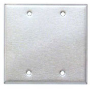 Morris Products 83320, 430 Stainless Steel Wall Plates 2 Gang Blank