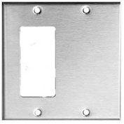 Morris Products 83560, 430 Stainless Steel Wall Plates 2 Gang 1 GFCI 1 Blank
