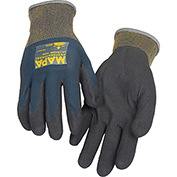 MAPA® Ultrane 500 Grip & Proof Nitrile Palm Coated Gloves, Lt Weight, 1 Pair, Size 8, 500418