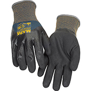 MAPA® Ultrane 525 Grip & Proof Nitrile 3/4 Coated Gloves, Light Weight, 1 Pair, Size 8, 525418