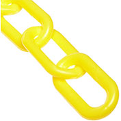 "Plastic Chain - 1-1/2"" Links - In A Bag - Yellow - 50 Feet - Trade Size 6"