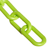 "Plastic Chain - 1-1/2"" Links - In A Bag - Safety Green - 50 Feet - Trade Size 6"