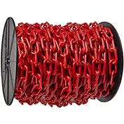 "Plastic Chain - 1-1/2"" Links - On A Reel - Red - 200 Feet - Trade Size 6"