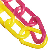 "Plastic Chain - 2"" Links - Yellow And Magenta - 50 Feet - Trade Size 8"
