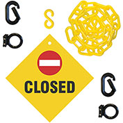 Mr. Chain 7412CL Closed Sign Kit, 12' Wide