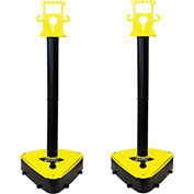 "X-Treme Duty Stanchion, 45-1/2"" Overall Height, Black/Yellow, Sold in Pack of 2"