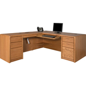 Martin Furniture Left L-Shaped Desk - Contemporary Office Series