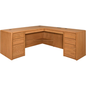 Martin Furniture Right L-Shaped Desk - Contemporary Office Series