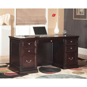 Martin Furniture Space Saver Double Pedestal Desk - Fulton Office Series